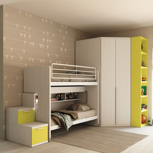 bunk bed / single / contemporary / child's