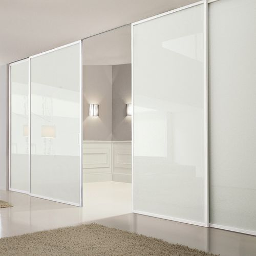 sliding partition / glass / home