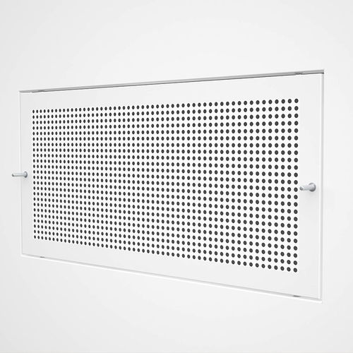 stainless steel ventilation grill / steel / rectangular / white