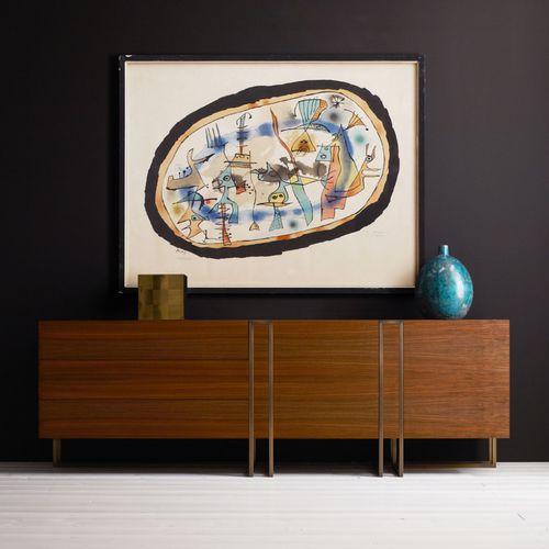 contemporary sideboard / wooden / brass / by Ferruccio Laviani