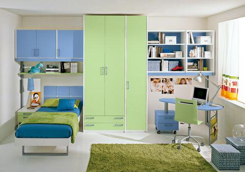 blue children's bedroom furniture set / unisex