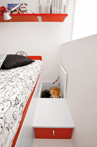 Unisex children's bedroom furniture set / red SPORT - MOTORI 3 Faer Ambienti
