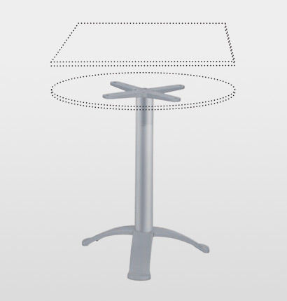 aluminum table base / contemporary / commercial