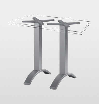 aluminum table base / contemporary / double / commercial