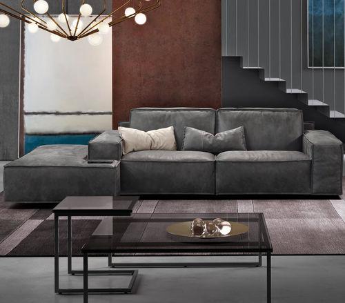 modular sofa / contemporary / leather / 2-person