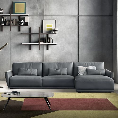 modular sofa / contemporary / leather / 2-person