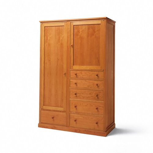 traditional wardrobe / wooden / with swing doors / with drawer