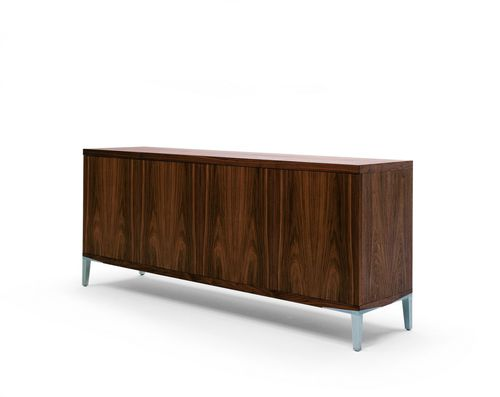 contemporary sideboard / brass / solid wood