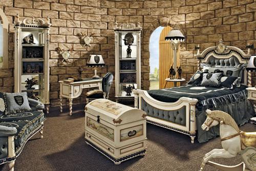 white children's bedroom furniture set / boy's