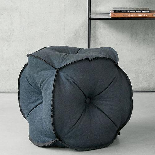 contemporary pouf / felt / gray / red