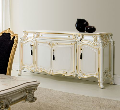 classic sideboard / wooden / white