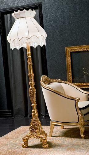 floor-standing lamp / classic / fabric / contract