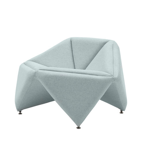 original design armchair / fabric / customizable color / for hotels