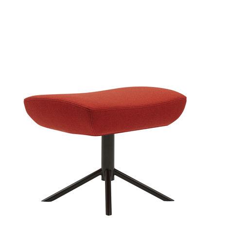 Scandinavian design footrest / fabric / metal / for public spaces