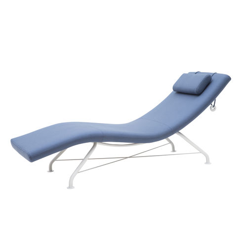 contemporary sun lounger / fabric / steel / contract