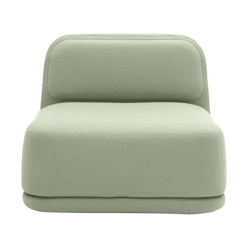 contemporary fireside chair / fabric / with removable cover / tablet