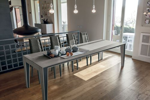 Contemporary dining table / metal / laminate / rectangular EXODUS 180 Target Point New