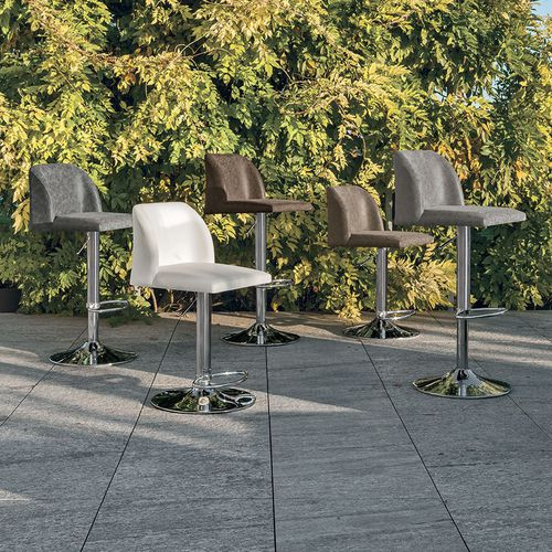 Contemporary bar chair / with footrest / central base / upholstered SALISBURGO Target Point New