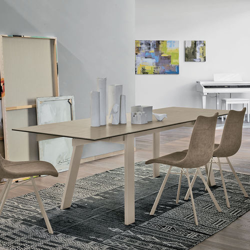 Contemporary dining table / tempered glass / metal / porcelain stoneware GIOVE 160 Target Point New