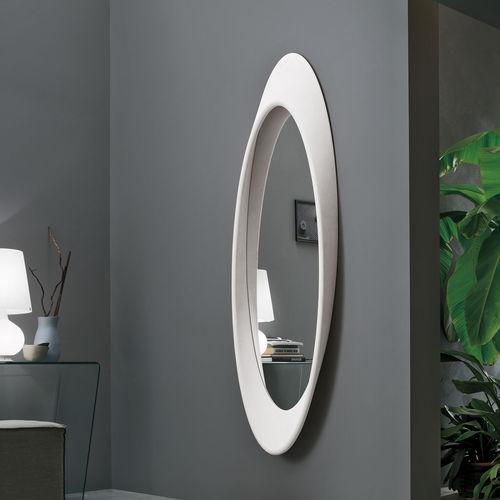 wall-mounted mirror / contemporary / oval / polyurethane