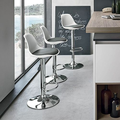 Bar chair / contemporary / polypropylene / chrome steel STOCCOLMA Target Point New