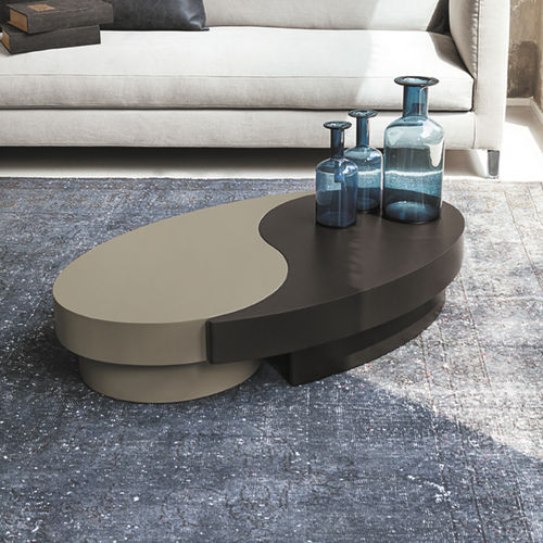Contemporary coffee table / wooden / oval TAO Target Point New