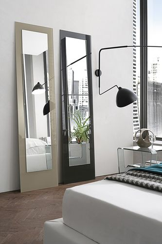 Free-standing mirror / contemporary / rectangular DORIAN Target Point New