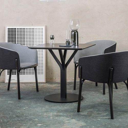 contemporary bistro table / oak / beech / square