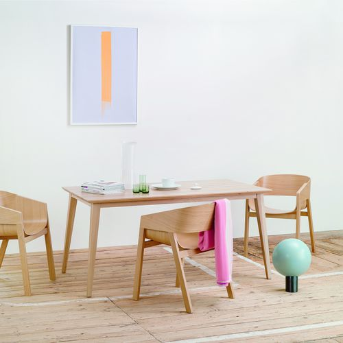 Scandinavian design table / oak / walnut / solid wood