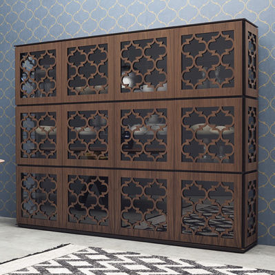 traditional china cabinet / lacquered wood