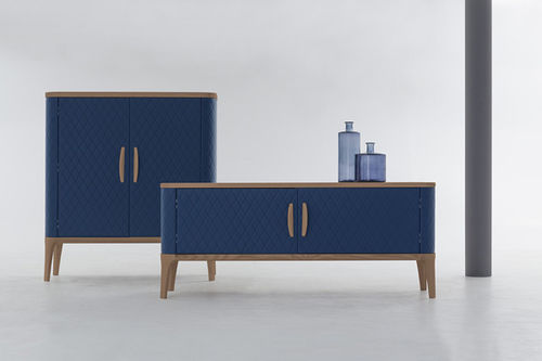 contemporary sideboard / leather