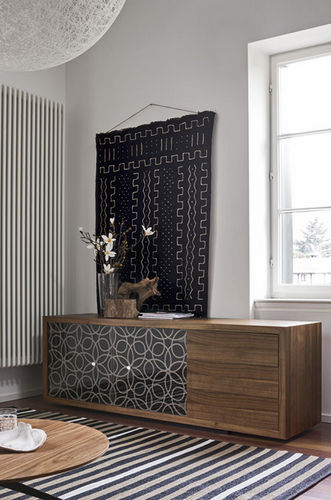 contemporary sideboard / wooden / glass / transparent