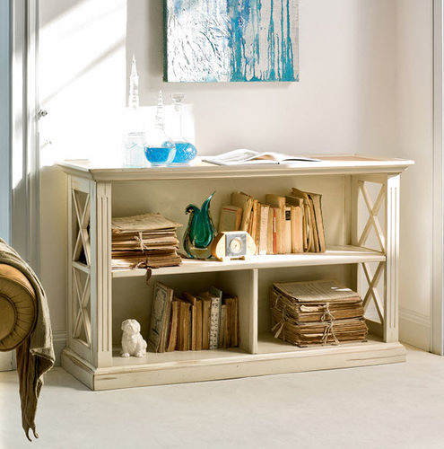 low bookcase / traditional / lacquered wood