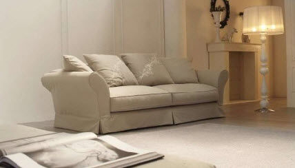 Traditional sofa / cotton / 2-seater BELLAGIO Valmori