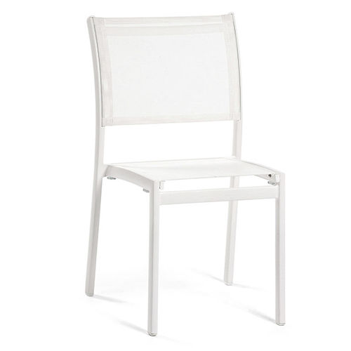 contemporary garden chair / aluminum / Batyline® / white