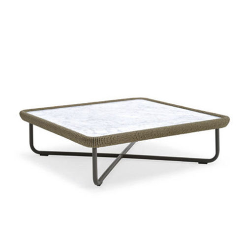 contemporary coffee table / marble / synthetic fiber / HPL
