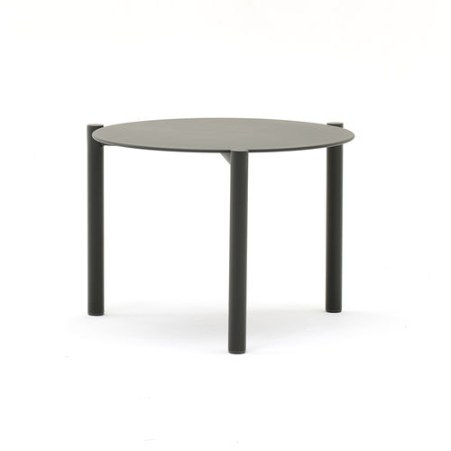 contemporary coffee table / aluminum / round / garden