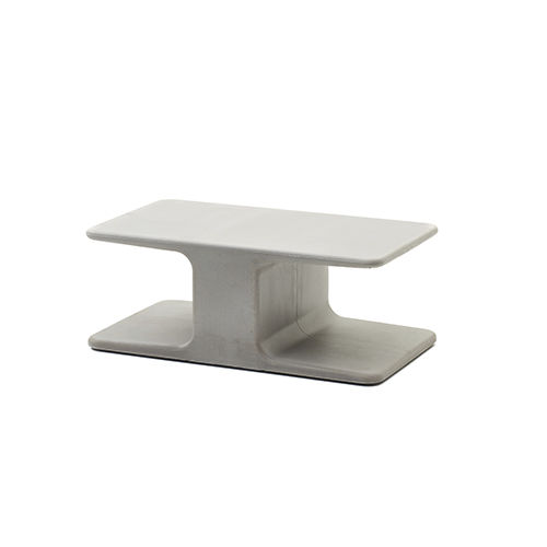 contemporary coffee table / cement / rectangular / for outdoor use
