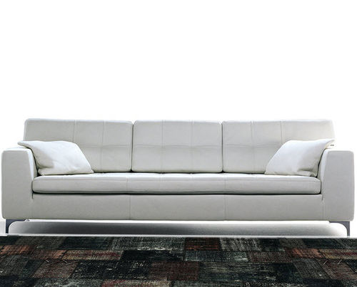 sofa bed / contemporary / leather / for public buildings