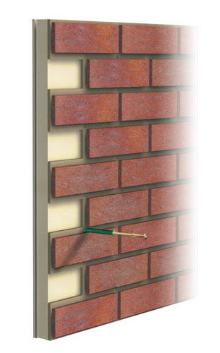 Cladding facing brick GEBRIK 6 Isosystems