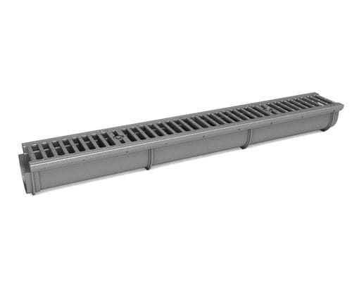 road drainage channel / for public spaces / cast iron / with grating