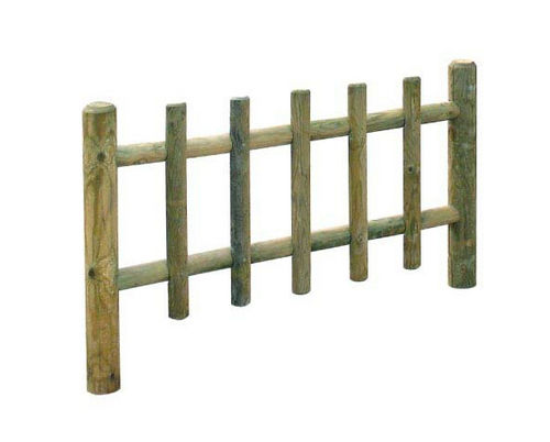 playground fence / bar / pine
