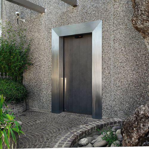 entry door / sliding / metal / security