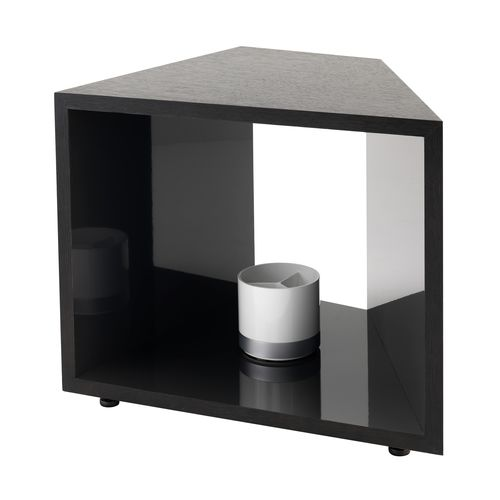 contemporary side table / wood veneer / laminate / commercial