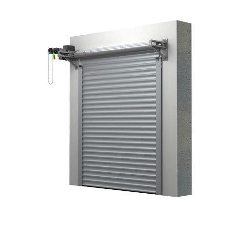 roll-up garage door / aluminum / automatic / insulated