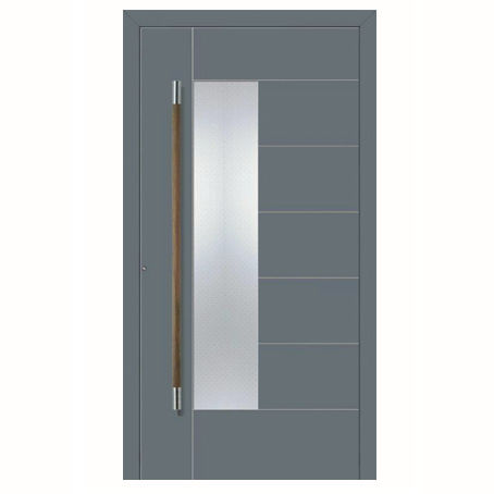 Entry door / swing / aluminum / thermally-insulated - Aluprof S.A