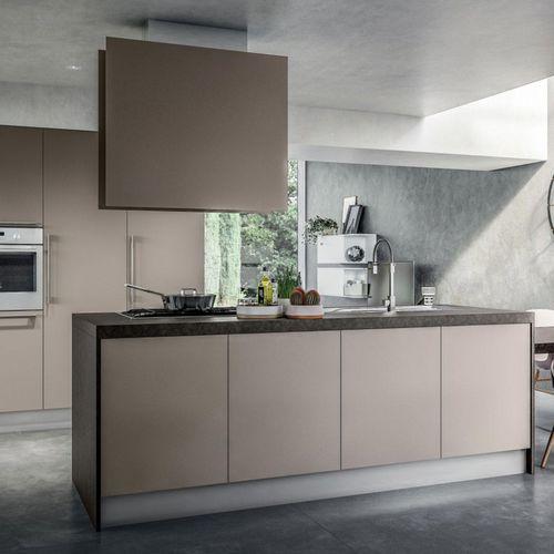 contemporary kitchen / melamine / island / lacquered