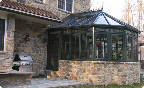 Aluminum conservatory Solar Innovations, Inc.