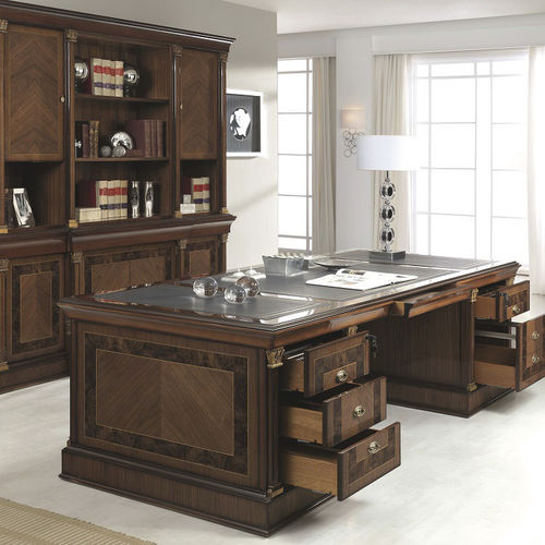 executive desk / wooden / traditional / with storage