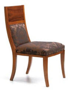 traditional chair / high back / with armrests / upholstered